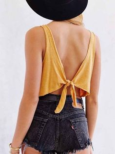 Tie Up Back Crop Top – Outfit Made