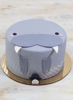Winston the Walrus Cake | Whipped Bakeshop