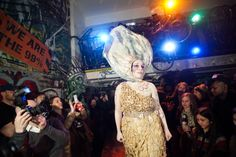 Earth Celebrations--Direct Fashion Show at the Museum of Reclaimed Urban Space. LES, NYC. Oyster costume. Photo by Brian D. Caron.