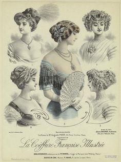 La coiffure française illustrée. (1910) Very low necklines here