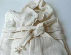 Peshtemal Robe Bamboo Robe Anti bacterial by DokumaAtelier