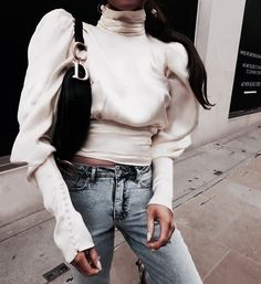 Find images and videos about fashion, style and girly on We Heart It - the app to get lost in what you love. Photo Makeup, Look Fashion, Autumn Winter Fashion, White Jeans, Mom Jeans, Women Wear, Normcore, Vogue, Street Style