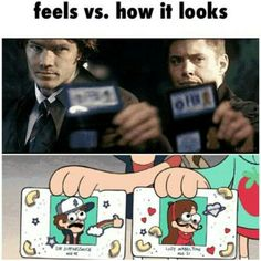 My two favorite shows.... Supernatural and Gravity Falls!!! The mysteries never get old