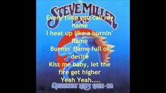 ♡♥Steve Miller Band 'Abracadabra' with lyrics - click on pic then click on full screen in lower right corner to watch in full screen 5:06♥♡