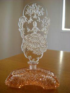 Czech Czechoslovakia Perfume Bottle 1930s VGC RARE   eBay Crystal Perfume Bottles, Antique Perfume Bottles, Popular Perfumes, Bottle Candles, Beautiful Perfume, Blue Bottle, Decoration, 1930s, Glass