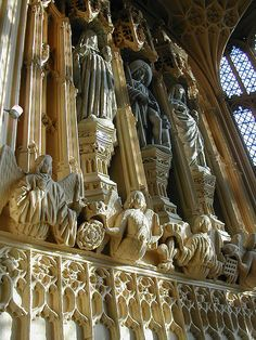 Sun Shining on Statues Inside Westminster Abbey/Great Britain/England/London England Ireland, England And Scotland, London England, Gothic Architecture, British Architecture, Cathedral Church, Amazing Buildings, Westminster Abbey, Religion