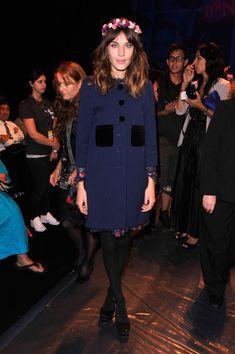 Alexa Chung Photo - Anna Sui - Front Row - Spring 2013 Mercedes-Benz Fashion Week