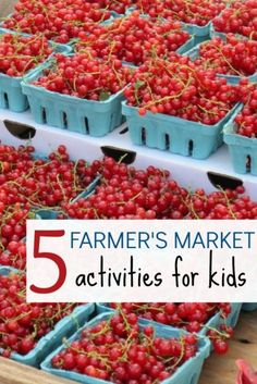 Learn with kids! Use the farmers' market as a teaching tool.
