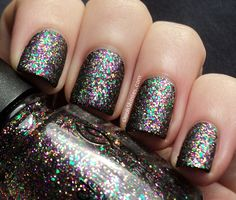 A England Ophelia with China Glaze Glitter All The Way and Essence Matt top coat.
