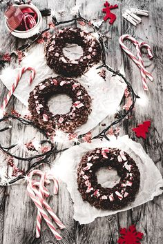 Chocolate crispy Christmas wreaths