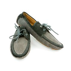 Jimmy Choo Black and Studded Moccasins