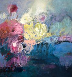"Third Place Winner of ""Flowers, Plants & Gardens 2""  Artists: Kate Zimmer  Title: Bibbys Garden Medium: Acrylic on wood panel Size: 43"" x 40""  http://www.art-competition.net/Flowers_Plants_Gardens_2.cfm"