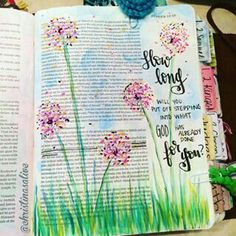 Bible Journaling with dandelions! Such a fun and wistful illustration to use. For many of us, Dandelions are a symbol for hope and perfect for God's Word!