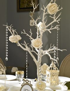 Wishing tree wedding decoration twig table decoration centre piece wishes guest