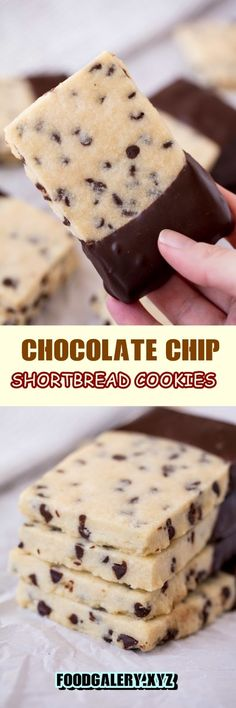 Köstliche Desserts, Delicious Desserts, Dessert Recipes, Yummy Food, Chocolate Chip Shortbread Cookies, Chip Cookies, Holiday Baking, Christmas Baking, Christmas Cookies