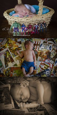 Tino's Newborn Photos | Future Comic Book Nerd | Marvel | Avengers | Hulk | Iron Man | Thor | Captain America | Hawkeye | Black Widow | Baby Boy | CH Photography | The Whimsical Penguin Newborn Pics, Newborn Pictures, Newborn Session, Baby Pictures, Boy Photo Shoot, Photo Baby, Photo Shoots, Infant Photography, Photography Ideas