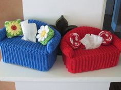 Crocheted Tissue Holders!  So Darling!
