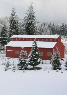 Really Pretty Picture Of A Barn & Snow