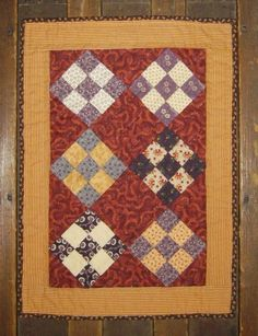 old doll quilts | Nine Patch Doll Quilt