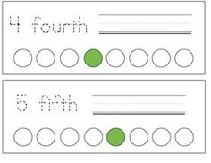FREE traceable ordinal number cards, suitable for a word wall, pocket chart, or have students trace and write their own ordinal number mini booklet.