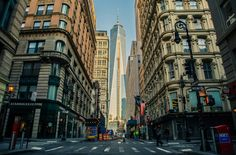 Down the street to the One World Trade Centre