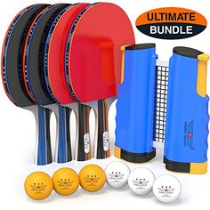 Buy NIBIRU SPORT Professional Ping Pong Paddle Set Retractable Net (Bracket Clamps), Balls, Posts Regulation Table Tennis Accessories, Advanced Home Indoor Outdoor Play, Storage Case online - Easygreatshopping Table Tennis Equipment, Table Tennis Net, Table Tennis Racket, Sports Equipment, Butterfly Table Tennis, Tennis Nets, Tennis Pictures, Ball Storage, Tennis Accessories