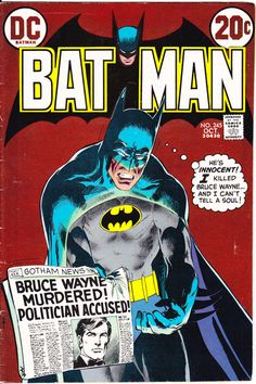 Batman 245 DC Comics 1972 Neal Adams Cover and Interior Robin Boy Wonder by LifeofComics DC Universe #comicbooks