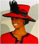 Donna vinci  Red Black hat was 299.99 our price 149.99
