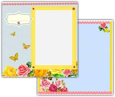 Download this Spring Bouquet Scrapbook Layout and other free printables from MyScrapNook.com