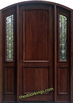 Arched wood doors.    www.Thedoorkings.com