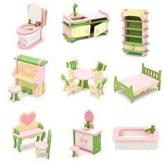 Trend Mark New Dollhouse Accessories Miniature Mini Retro Sewing Machine Furniture Toys For Doll House Decor Children Pretend Play Toys Furniture Toys