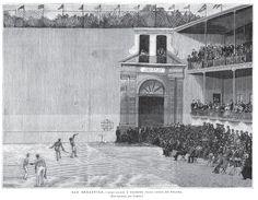 Frontón Jai Alai de Donosti - La Ilustración Española y Americana 1890