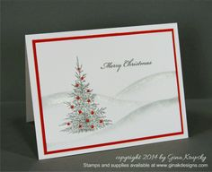 Soft Christmas Landscape - stampTV - Winter Cheer & Christmas Wishes