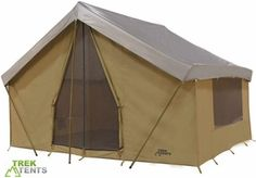Canvas Camping Tent Good review on inclement weather protection.