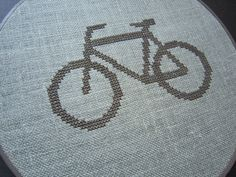 Bicycle modern cross stitch.