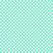 Polka Dots mint x white fabric by mezzo for sale on Spoonflower - custom fabric