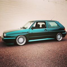 Ralley Golf with 1pc Corrado wheels turned into 3pc wheels.