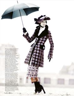 """RAIN! The Terrier and Lobster: """"Deauville Rendezvous"""": Stella Tennant and Marte Mei van Haaster Go Edwardian by Mario Testino for Vogue UK"""
