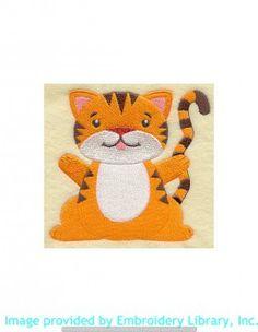 Stickmotiv Stickbild Aufnäher Stickerei Emblem Asien Tiger Tiger / Stickerei Playful Tiger (H5379)