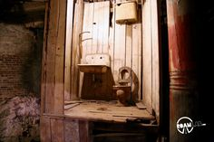 One of the infamous Crapper toilets that revolutionized sewage disposal but also could have the opposite effect as well.