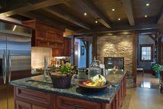 Luxury Kitchens - These 20 beautiful kitchens have luxurious dark kitchen cabinets. Country Kitchen Designs, Beautiful Kitchen Designs, Beautiful Kitchens, Rustic Kitchen, Kitchen Ideas, Kitchen Decor, Kitchen Layout, Kitchen Pictures, Kitchen Pass