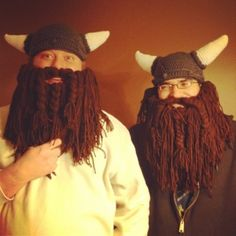 Awesome Crochet Patterns for viking hat on raverly.  Beard pattern is free from raverly as well.