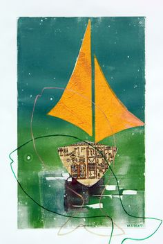 _erinnerung an Israel collage on Collage Artwork, Israel, Paper, Cut Paper Illustration