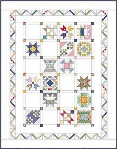 Blogger's BOM Quilt Design