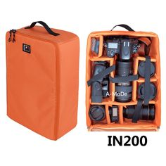 DSLR Large Capacity Camera Luggage insert waterproof shockproof partition padded Mirrorless Camera, Lens, Flash, Battery and Other Accessoriesbag case for 1D D5 IN200 -- To view further for this item, visit the image link.