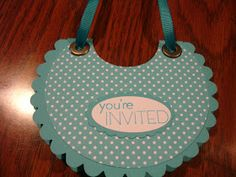 Wanna Be Creative: Baby Bib Card and Rattle Party Favor