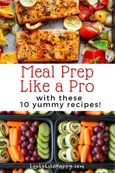 Meal Prep Like a Pro With These 10 Yummy Recipes for Diner and Lunch - Meal Prep Ideas - Meal Prep Recipes - Meal Plan - Easy Recipe Ideas - Easy Dinner Ideas - Easy Lunch Ideas Lunch Meal Prep, Easy Meal Prep, Healthy Meal Prep, Easy Meals, Healthy Eating, Healthy Weight, Dinner Recipes, Yummy Recipes, Healthy Recipes