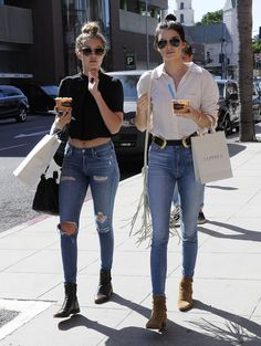 Gigi Hadid out and about in Beverly Hills with Kendall Jenner (7/31/2015)