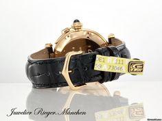 Cartier PASHA 38 mm GELBGOLD 750 AUTOMATIK GOLD LEDER