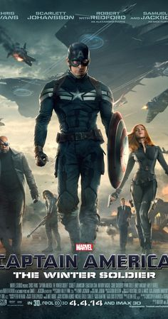 Captain America: The Winter Soldier (2014) - Action | Adventure | Sci-Fi  -  4 April 2014 (USA) - Steve Rogers struggles to embrace his role in the modern world and battles a new threat from old history: the Soviet agent known as the Winter Soldier. Stars: Chris Evans, Frank Grillo, Sebastian Stan ♥♥♥